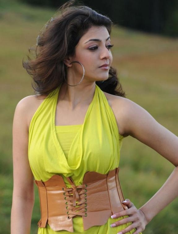 Spicy Kajal Agarwal In Hot Mood Yellow Dress Latest Stills Photos sexy stills