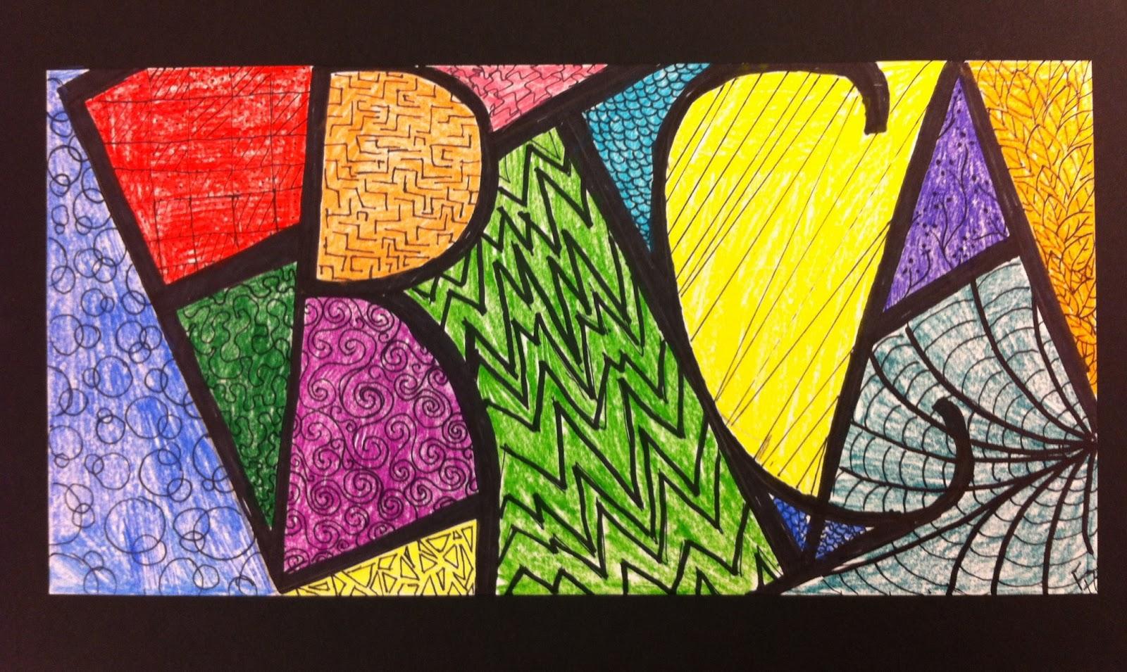Name Design Art : Angela anderson art name zentangles kid s class
