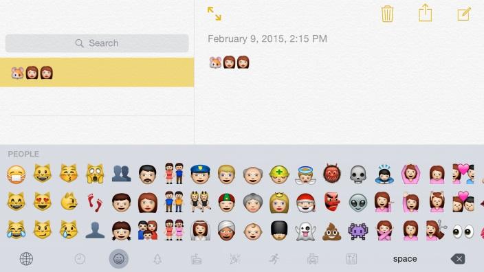 Teclado Emoji iOS 8.3