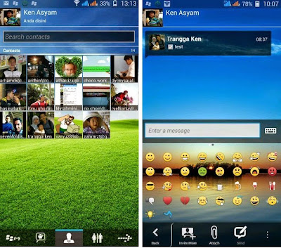 BBM+ Mod Android Gingerbread APK Transparan
