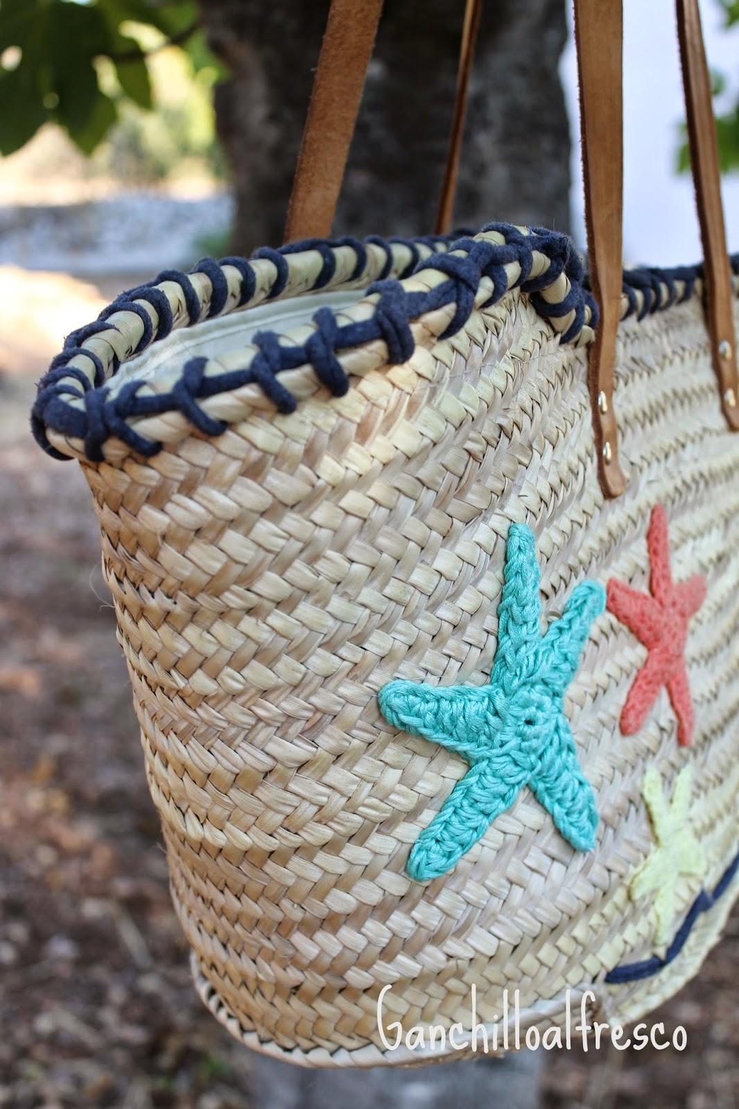 Ganchillo al fresco la cesta del verano - Cestas de ganchillo ...