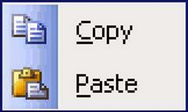 copy paste di internet