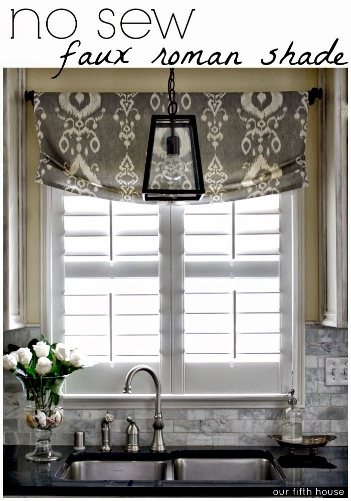 No sew window shade for Curtains that look like roman shades