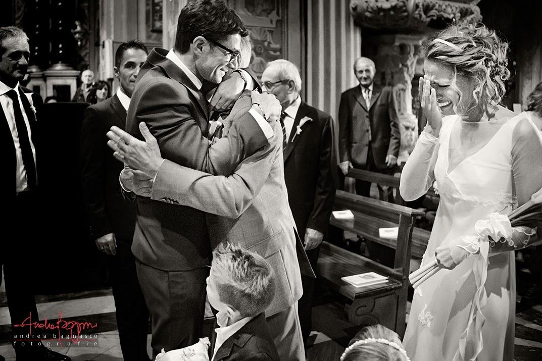 arrivo sposa all'altare matrimonio Varazze