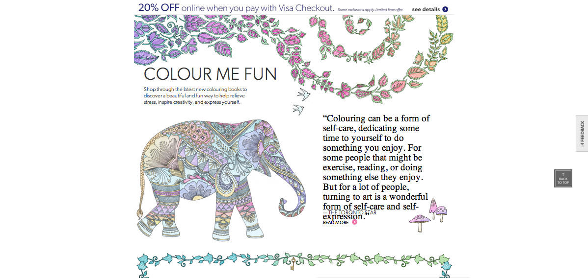 When You Think Of Colouring Books Might Have The Opinion That Its For Children But Nope Check Out Indigo Chapters Newest Page And Collection Devoted