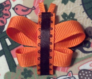 Handmade butterfly baby ribbon clip barrette