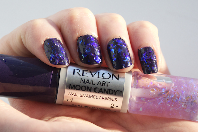 revlon moon candy nail duo orbit swatch swatches iridescent varnish polish top coat