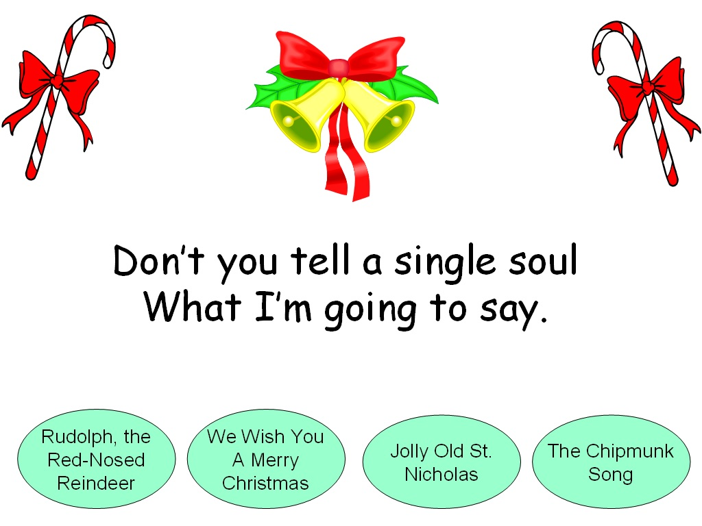 Student Survive 2 Thrive: Name the Christmas Song Trivia Game