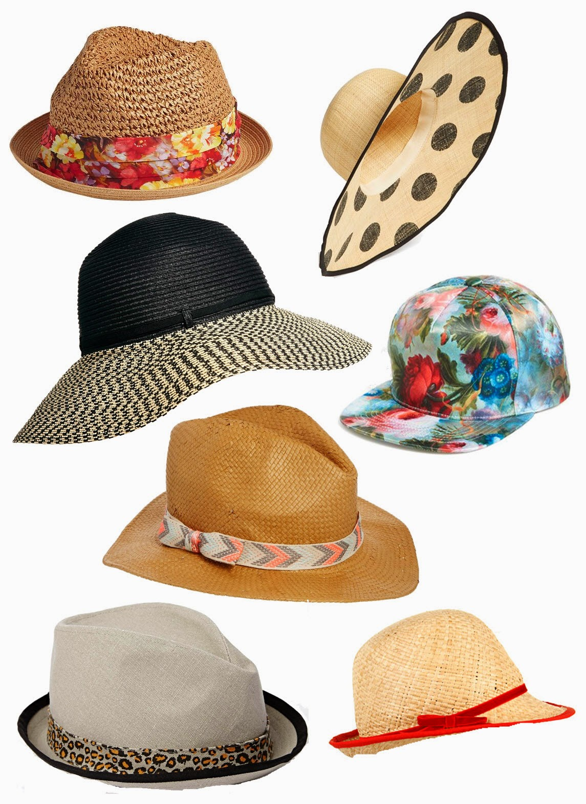 Fashion Friday: Summer Hats via @lucismorsels