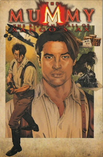 Front cover of The Mummy: The Rise and Fall of Xango's Ax graphic novel from IDW Publishing