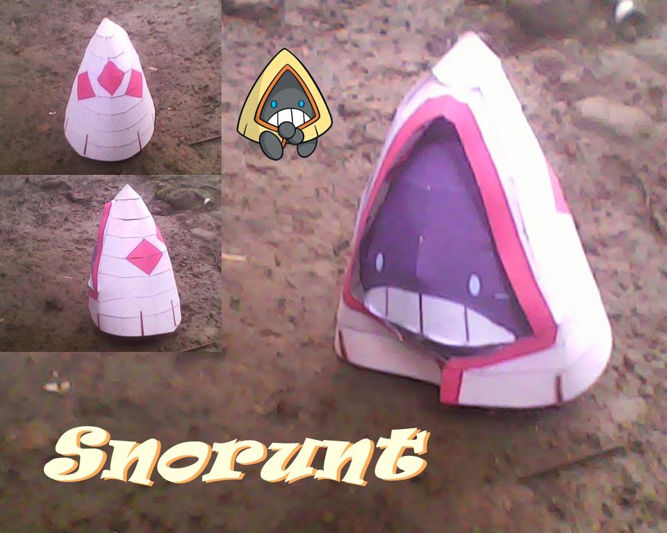 Pokemon Snorunt Papercraft