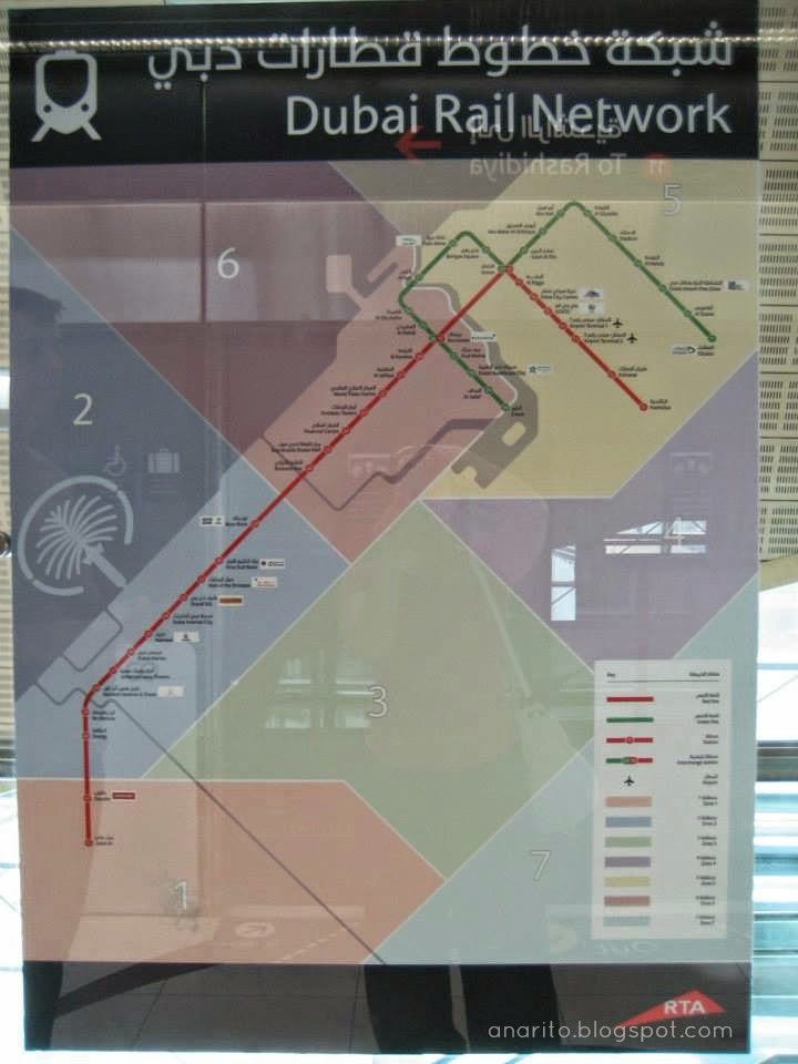 mapa do metro do dubai