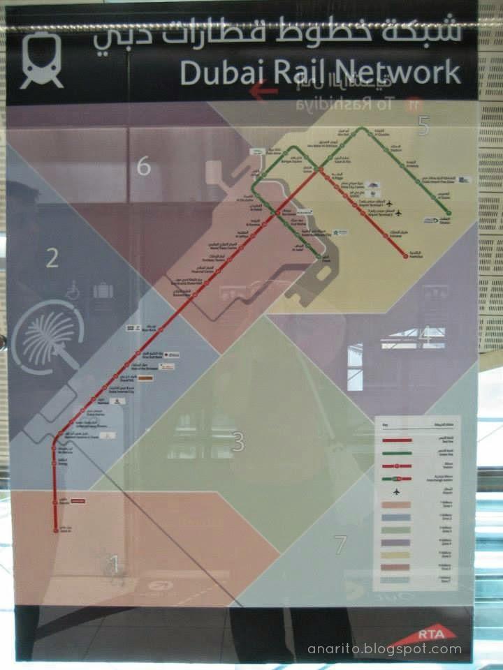 mapa do metro do dubai