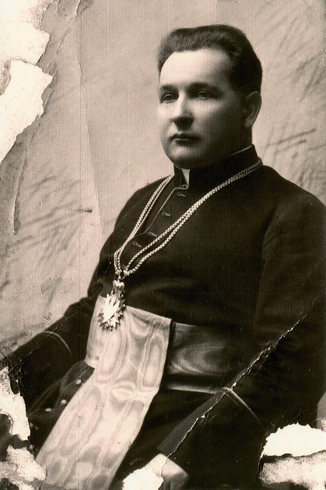 Ks. Kazimierz Sykulski, proboszcz konecki, lata trzydzieste. Kopia  w zbiorach Marcina Brzezińskiego.