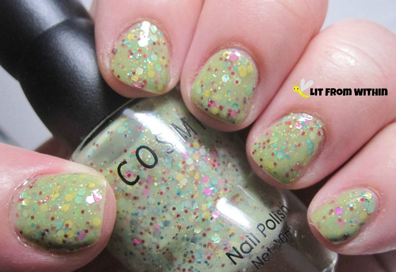 Cosmiss 3, a lime green glitter bomb