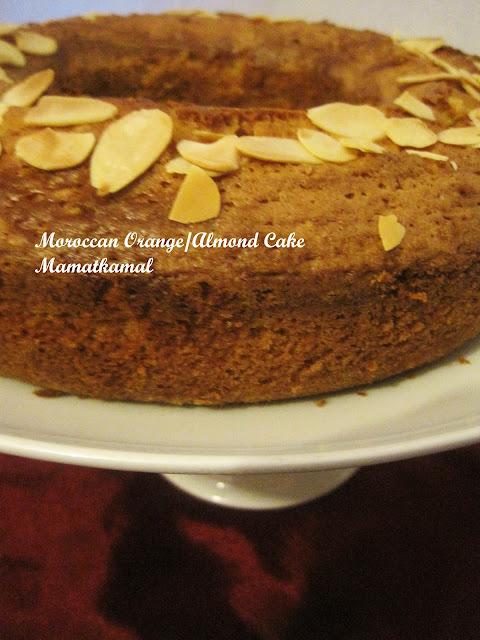 Meskouta or Maskouta / Moroccan Orange Cake (Butterless Cake) / Maskouta ou Meskouta, un gâteau Marocain à l'Orange et Amandes (Gâteau Sans Beurre)!  02