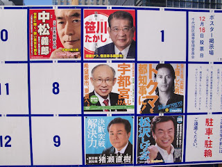 Tokyo candidates for Japan general elections 2012.