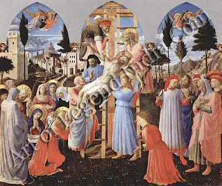 "The Great Artist Fra Angelico Painting ""The Deposition from the Cross"" c.1443 68½"" X 72"" Museo di San Marco, Florence"