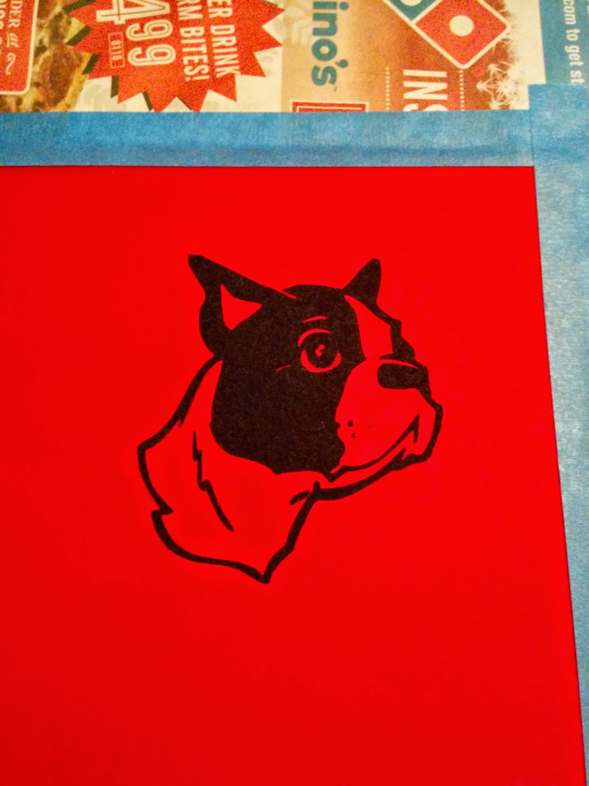screen printed boston terrier