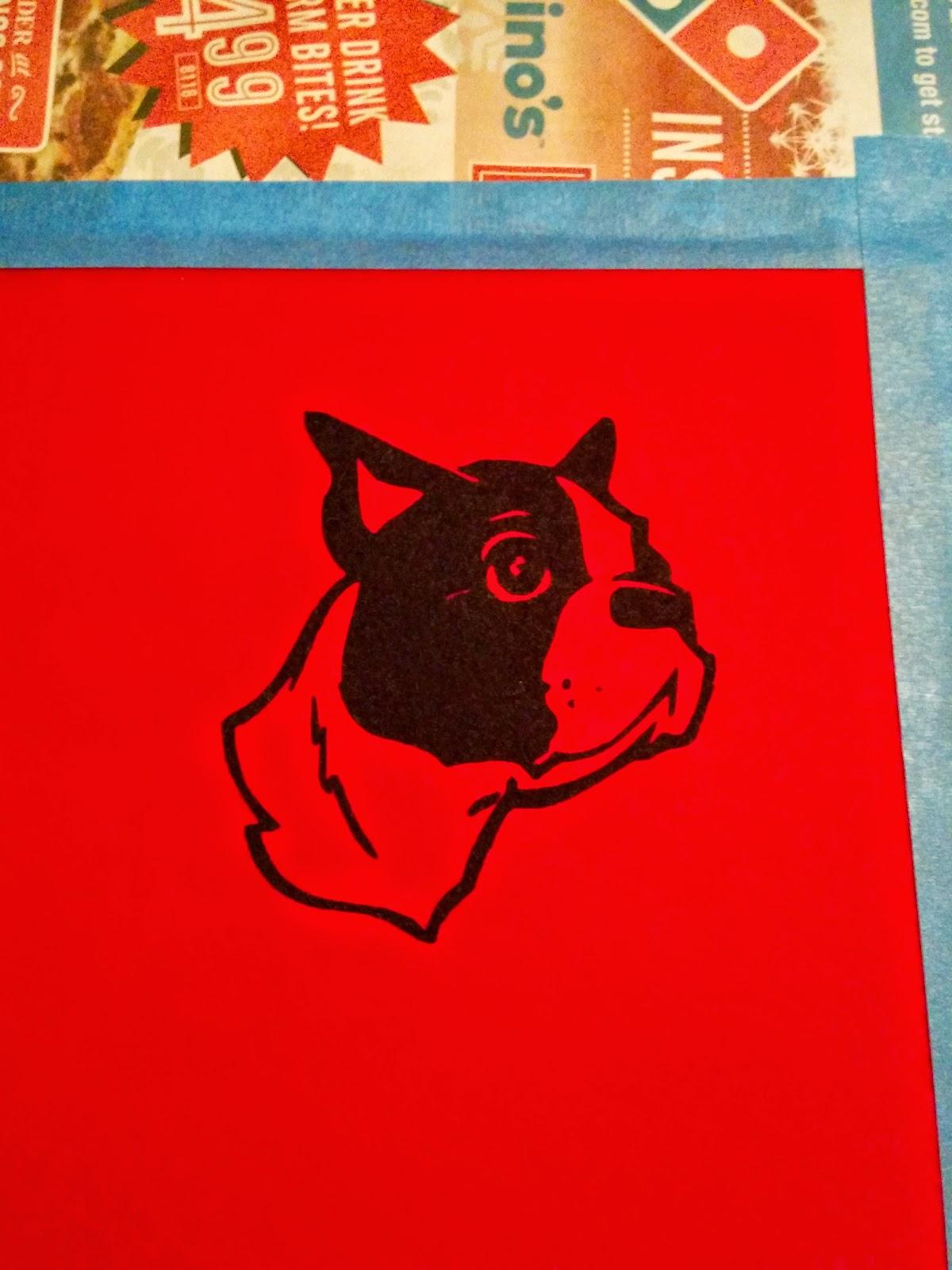 screen printed boston terrier