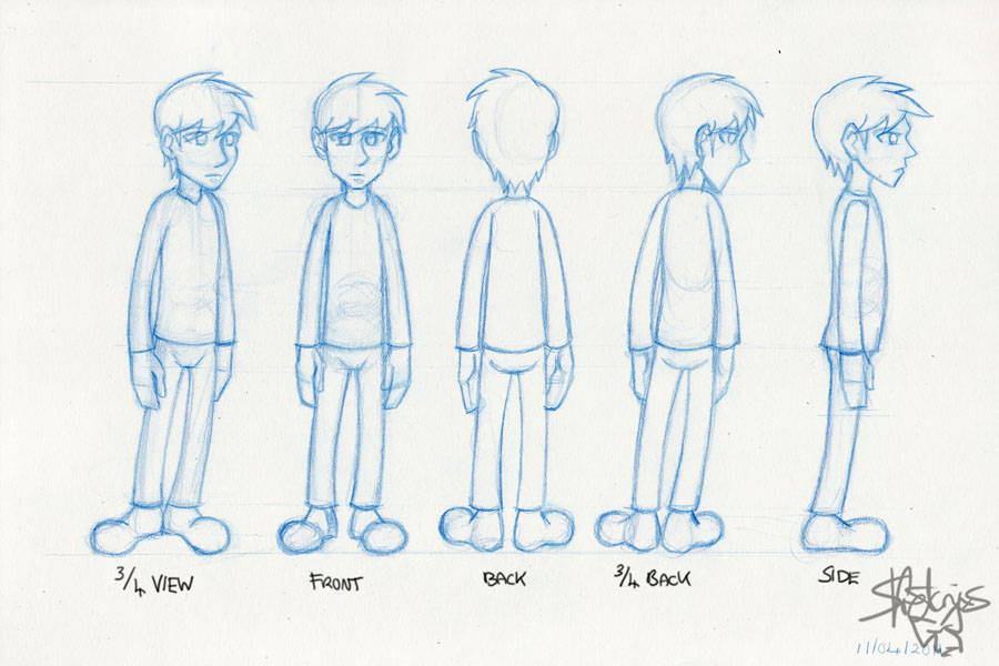 Character Design Side View : Character design