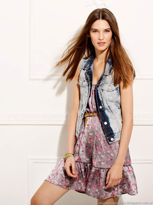 Gloria Jeanswear vestidos cortos de moda verano 2014.