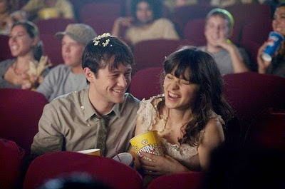 500 días juntos cine cinema popcorn palomitas summer tom laughing love