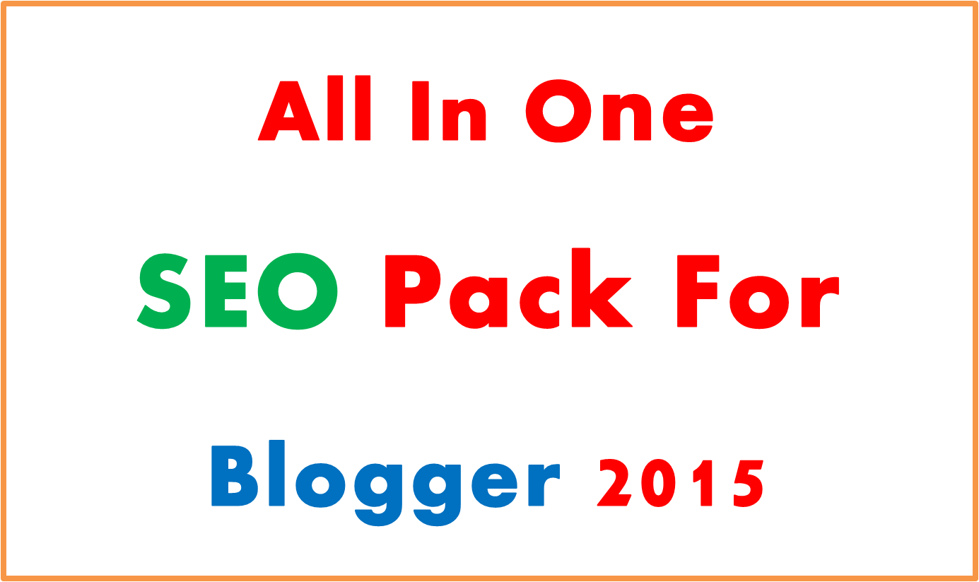 All In One Seo Pack For blogger