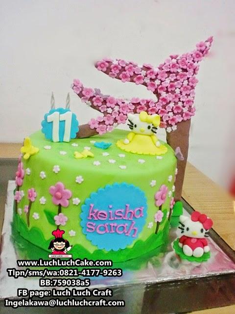 Kue Tart Hello Kitty Sakura Daerah Surabaya - Sidoarjo