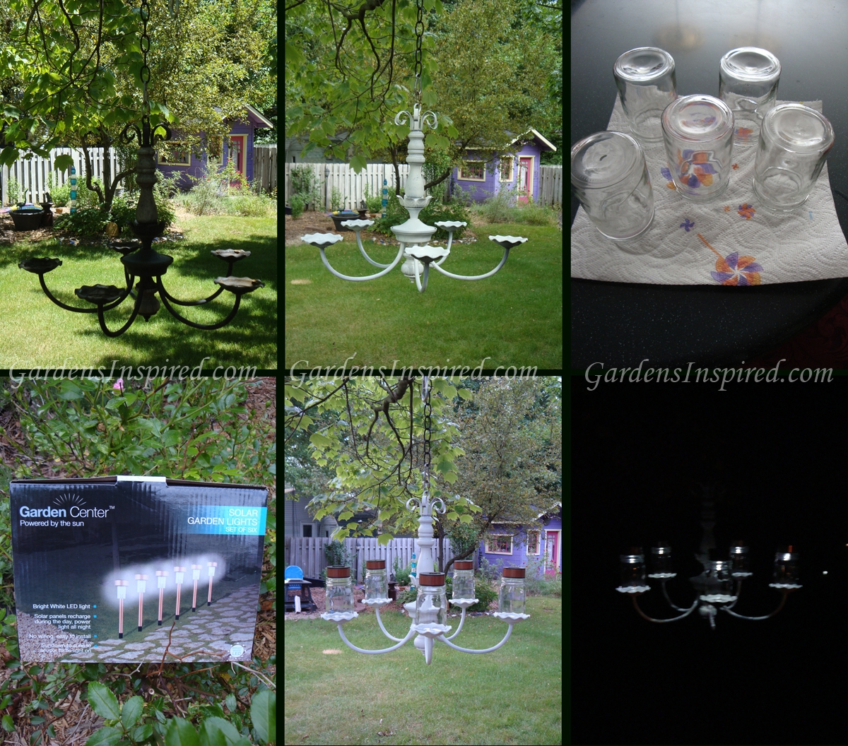 Upcycled garden style a website from gardens inspired create create a solar chandelier for your garden arubaitofo Gallery