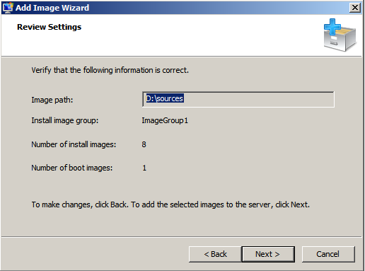 Windows Deployment Services Add Image Wizard
