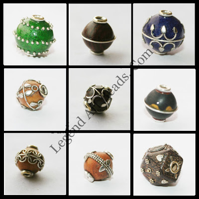 Beautifully designed beaded wooden beads