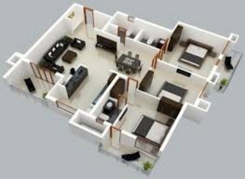 3D Floor Plan On Architectural 4