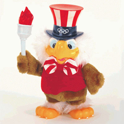 Sam Eagle mascot of the 1984 Summer Olympics in Los Angeles