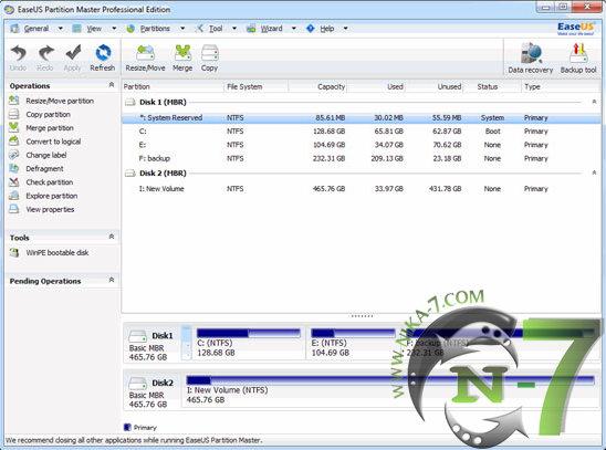 EASEUS Partition Master 10.5 Server, Professional, Technican, Unlimited Full