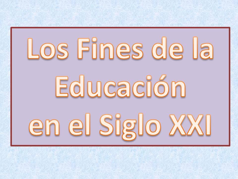 Fines de la educación