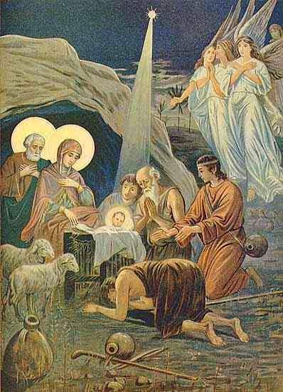 les bergers à la crèche, c'est Noël, prières catholiques de Noël