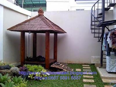 Tukang Taman Surabaya konsep mungil gazebo