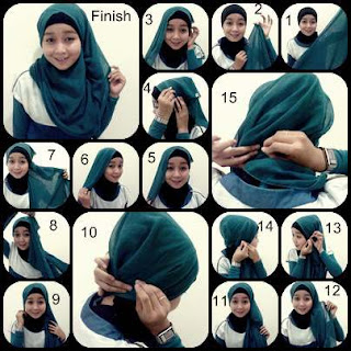 Tutorial Hijab Paris Dian Pelangi