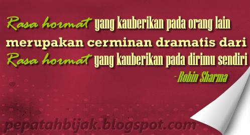 Kata Bijak] Rasa Hormat