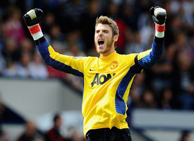 David de Gea Manchester United vs West Brom Barclays Premier League