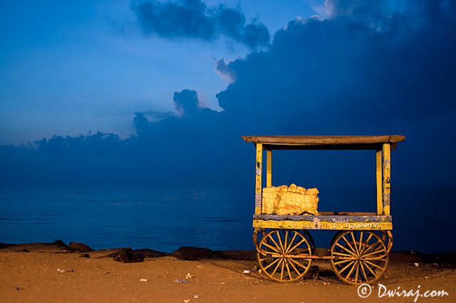 The yellow cart…