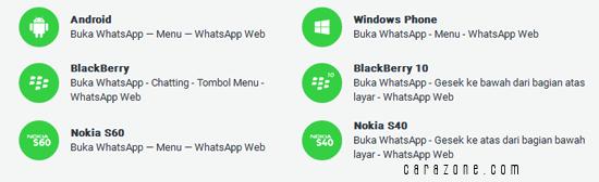 Cara menggunakan WhatsApp di web
