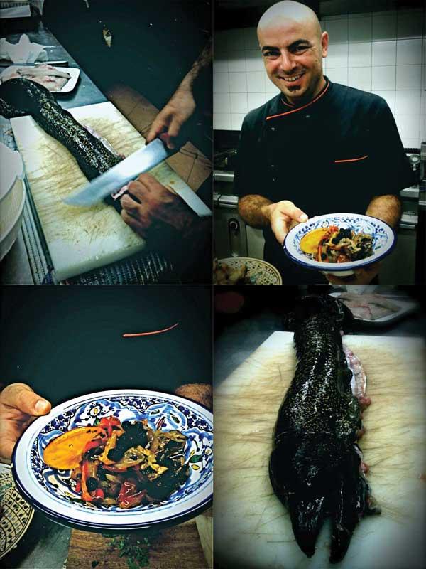 Uno chef agricoltore la murena fritta e la caponata grigliata for Cucinare murena