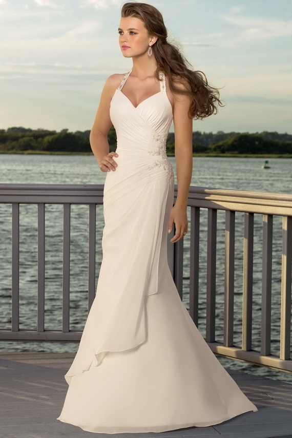 Elegant mermaid wedding dresses for Mermaid halter wedding dresses