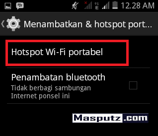 Hotspot Area dengan HP Android - next