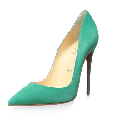 Christian Louboutin So Kate Pumps in turquoise suede