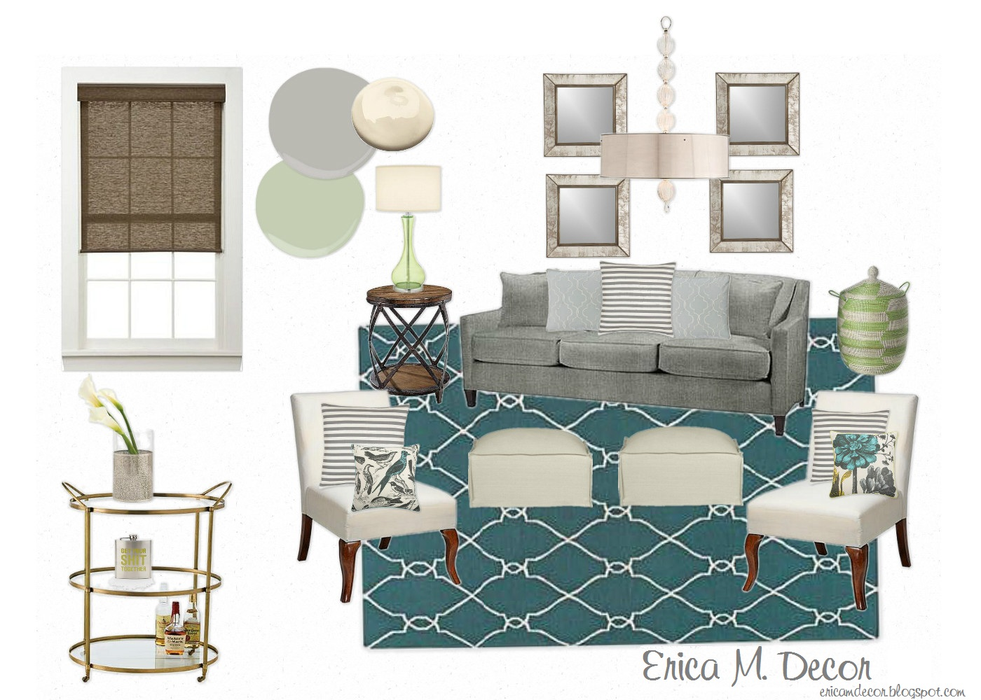 Erica M. Decor & More: Lamps Plus Living Room Design