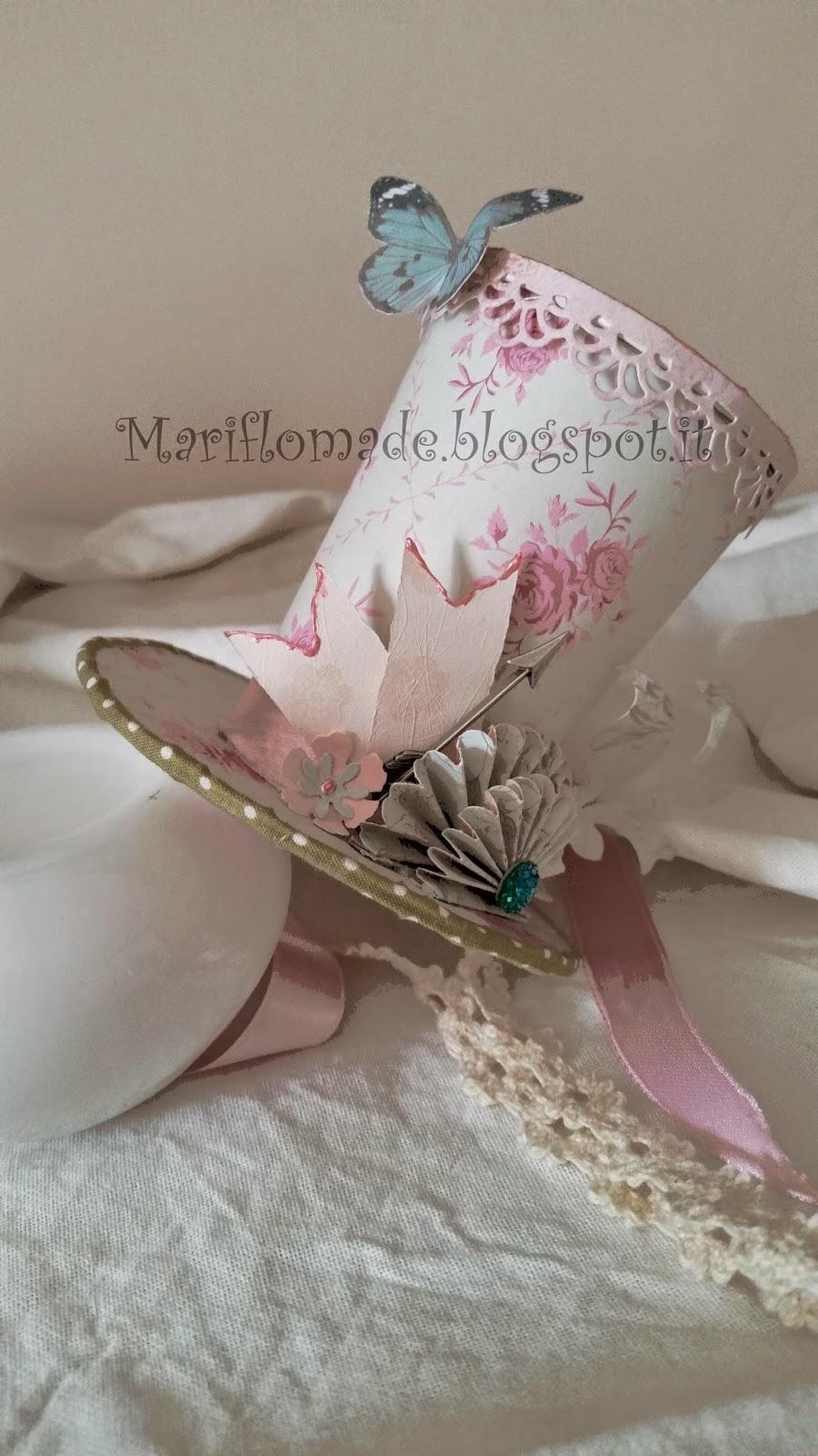 mad hatter, hat, paper, tim holtz, panduro, sizzix, fustelle, magnolia