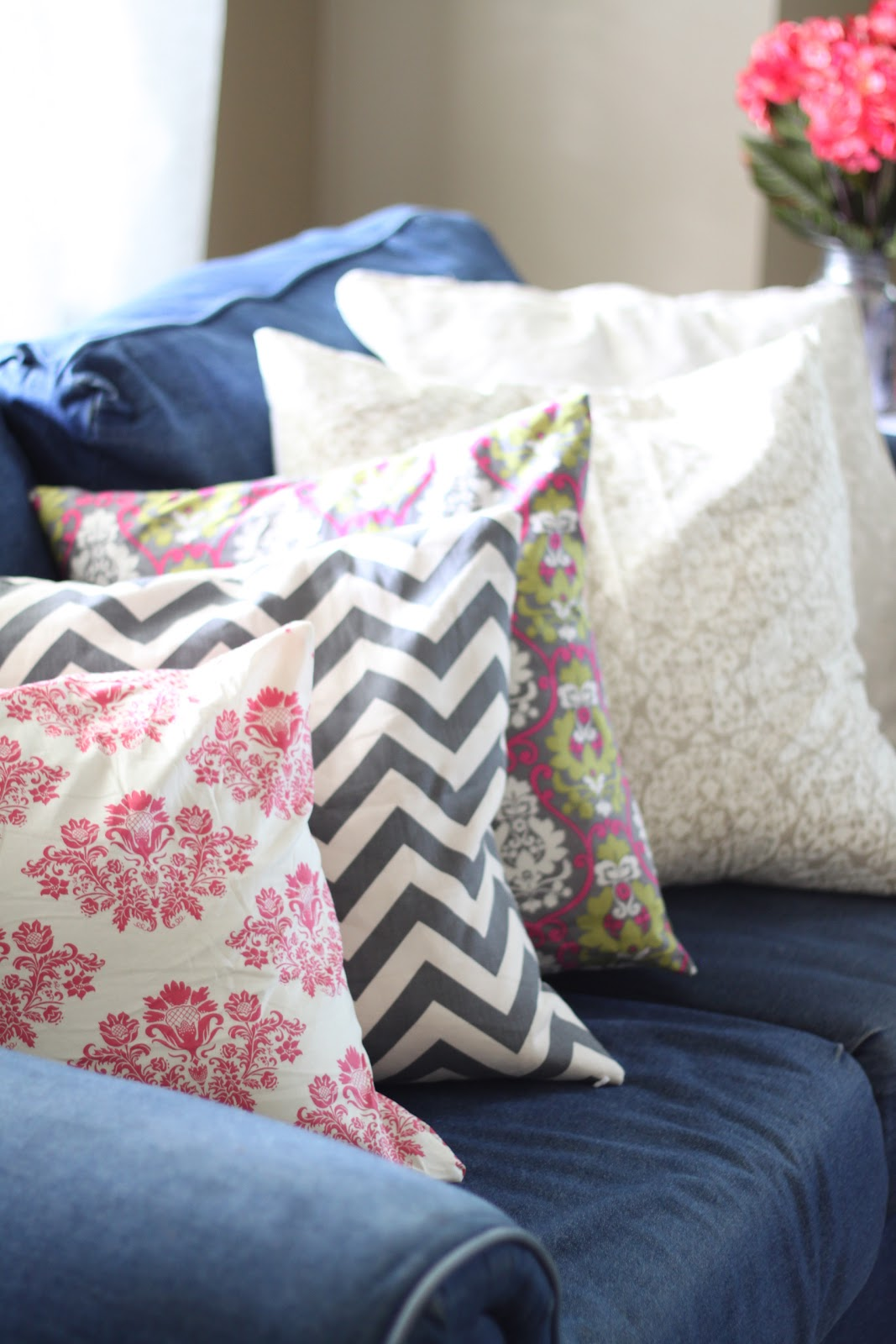 & do it yourself as: DIY: Throw Pillows for My Denim Couch Updated pillowsntoast.com